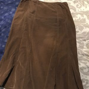 Ladies brown corduroy like skirt